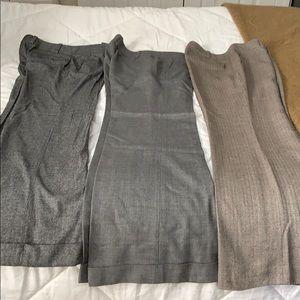 3 Pair Ann Taylor tweed pants / trousers sz 8